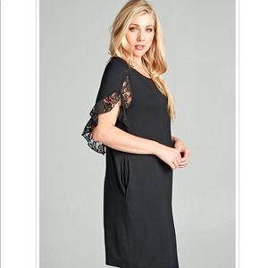 Black 1X Midi Plus Size Dress